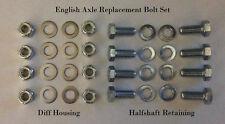 English Axle Replacement Bolt Set Escort mk1/2 Cortina mk1/2 Anglia Capri mk1