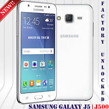 "Samsung Galaxy J5 J500H Android 5.1 13MP 8GB 3G 5"" HD Unlocked GSM Phone White"