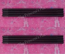 Tupperware 8 Whistle Straws Set Black Dripless Straw Seal Gadgets NEW