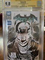 Batman #50 CGC 9.8 Tony Daniel Sketch Batman Who Laughs