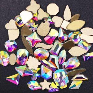 Nail Art Rhinestones AB Crystal Stones Flatback Strass Decoration multi shapes