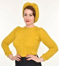 FREDDIES OF PINEWOOD,  Canary 1940s Saddle Top, 40s, size S