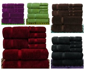 8 Pcs100% Super Absorbent Egyptian Cotton Soft & Highly Absorbent Towel bale Set