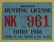 Ohio vintage hunting licenses ebay for Ohio state fishing license