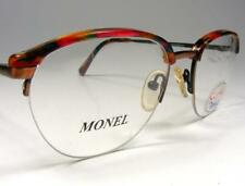 Ladies Vintage Combo Eyeglass Frame Red Rainbow by Eye-Q Combination 53-18 Nos
