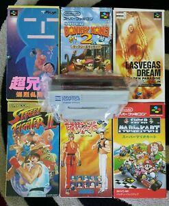 SNES Super Nintendo Games PAL Adaptor Mario Kart Donkey Kong Street Fighter ETC