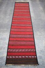 """n2957Vintage Nomad flat weave kilim runner, 2'6 x 9'6"""" ft."""