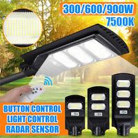 900W 90000LM Solar Street Light PIR Motion Sensor Outdoor Yard Wall Lamp+Remote