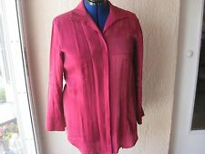 Chico's Long Sleeve Blouse/Shirt, Size 2, Cranberry Color