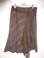 Per Una size 18L brown skirt with lace detail