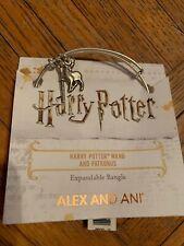 $33 Alex and Ani Harry Potter WAND AND PATRONUS DUO Bangle Z29
