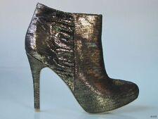 new COLIN STUART black/gold platforms ANKLE BOOTS shoes 6.5 - SEXY