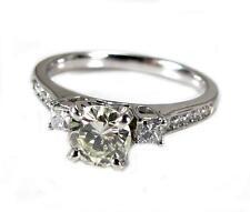 Diamond VS 1.02CT Round Cut Solitaire Women Engagement Ring 14K White Gold VIDEO