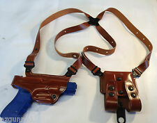 Galco Miami Classic Shoulder Holster, Left H Tan 1911's 3,4,5 Inch # MC213
