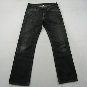 Banana Republic Jeans Adult 32x32 Men Black Stone Wash Dark Casual Straight