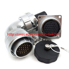 26Pin Power Cable Connector, WS28 5A 400V Automotive Aviation Bulkhead Connector