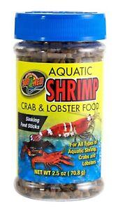 Zoo Med Aquatic Shrimp Crab & Lobster Dry Food 2.5 oz   free Shipping