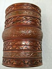 VINTAGE COPPER CUFF Bracelet with ELEPHANT Designs-MADE IN INDIA