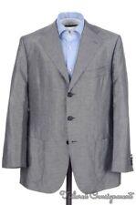 CESARE ATTOLINI Solid Gray Woven Silk Linen Blazer / Sport Coat Jacket - 40 R
