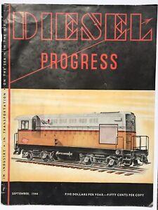 Diesel Progress 1944 Industrial Engine Trade Magazine, Milwaukee Road Locomotive