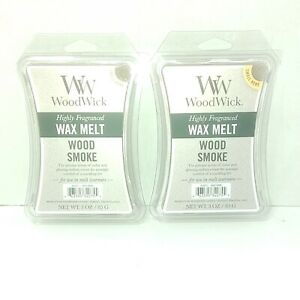 WoodWick Highly Fragranced Wax Melts ~ WOOD SMOKE Scented 3 Oz - lot 2 Yankee