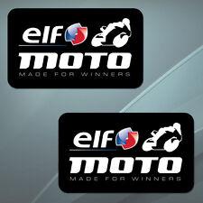 2 Vinyl Stickers Decal Auto Moto Sport Tuning Car Bike ELF Oil Race Sponsor Clio
