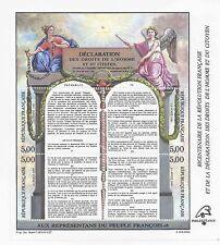 t5 lot de 4 timbres à 5,00f droits de l'homme