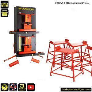 SharkEye SC4WLA Wheel Alignment Gauges & 80cm Wheel Alignment tables. UK made.