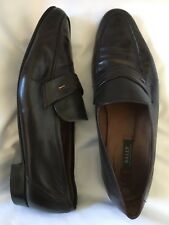 BALLY OF SWITZERLAND Men's SZ US 12 3E Brown Leather Slip On Dress Shoes