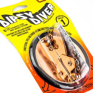 LUHR JENSEN Dipsy Diver Directional Trolling Sinker Size 1 - METALLIC COPPER