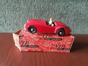 Vintage Victory Industries Slot Car - Red MGA 1 - Missing windshield - Boxed.
