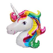 2PCS Unicorn Pegasus Fly Horse Aluminum Foil Balloon for baby kids birthday toys