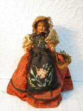 Ancienne poupée folklorique en celluloid de collection