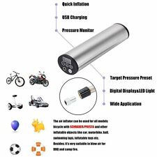 Rechargeable LCD Display Air Inflator Portable Electric Car Ride Bicycle Pump A