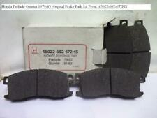Honda Prelude Quintet 1979-83. Orginal Brake Pads kit Front. 45022-692-672HS