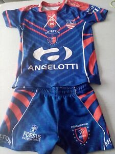 ENSEMBLE RUGBY BEZIERS MAILLOT TAILLE 12 ANS  + SHORT TAILLE XS