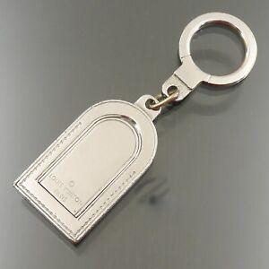 Auth LOUIS VUITTON Porte Cles Address Name Tag Motif Key Ring M9234P #f38668