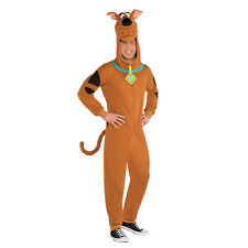 Amscan Scooby Doo Fleece Jumpsuit Halloween Mens Fancy Dress Costume Size XL