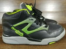 New Reebok Pump Omni Lite Black/Medium Grey/Toxic Alien Green Rare Retro sz 9
