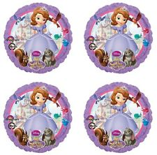 "4x Disney Sofia the First Birthday Party Supplies 18"" inch Foil Mylar Balloon"