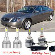 For Nissan Altima 2006-2005 Hi/Low 4pcs H1+9005 LED Headlight Kit Light Bulb