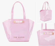 Ted Baker Ladies Azra Bow Tote Bag Pink Trapeze Ikon Shoppers Hand Bags Black