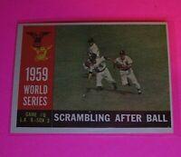 1960 Topps #390 WB World Series Scrambling After Ball #6 NmMt High Grade Sharp