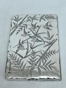 Fine Sterling Silver English Aesthetic Period Card Case By Deakin & Nephew 1881