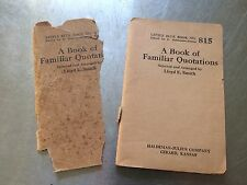 A BOOK OF FAMILIAR QUOTATIONS no. 815 Lloyd E. Smith 1925 paperback S#3034C