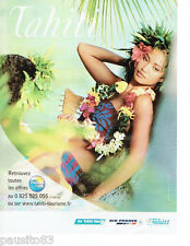 PUBLICITE ADVERTISING 115  2006  AIR FRANCE  AIR TAHITI NUI    tourisme Tahiti