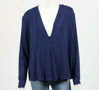 Bamboo by whispers Bamboo Long Sleeve Cardi size Small colour Navy