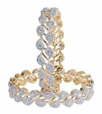 Indian Bollywood Wedding Partywear Traditional American Diamond Bangle Jewelry