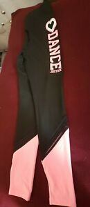 Nwt Justice Reversible Activewear Dance Gymnast Leggings Size 14/16
