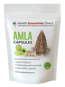 Amla Capsules - High Strength 2100mg (Indian GooseBerry, Natural Vitamin C)
